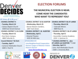Denver Auditor and City Council Debates, no Mayoral Debates.