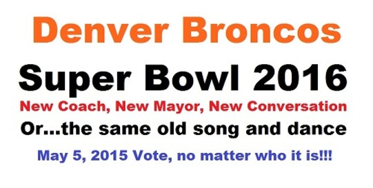 Broncos Super Bowl 2016 Prediction by Marcus Giavanni for city and county of Denver Broncos was made in March 2015