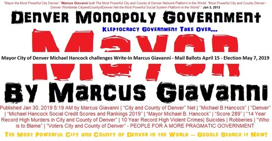 2019 Mayor of Denver Write-in Candidate Will Be Marcus Giavanni