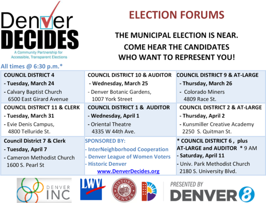 Auditor's Office did not say a word about no Denver Mayoral Debates and Forums
