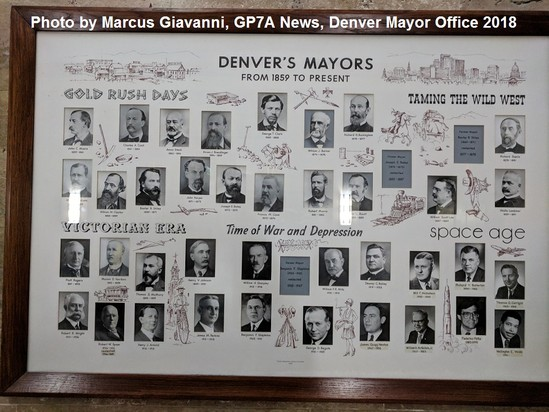 Mayors' of the city and county of Denver, Colorado