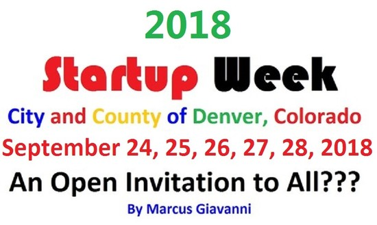 Mayor 2019 City and County of Denver Startup Week Information