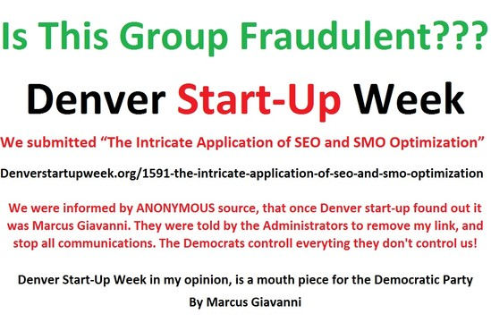 Denver Startup: Is this Denver Startup Group Fraudulent