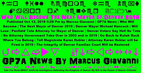 Who Will Become The Next Mayor of Denver 2019