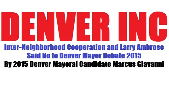 Denver Decides 2019 will not Decide for Voters 2019 Denver Candidate Marcus Giavanni for Mayoral